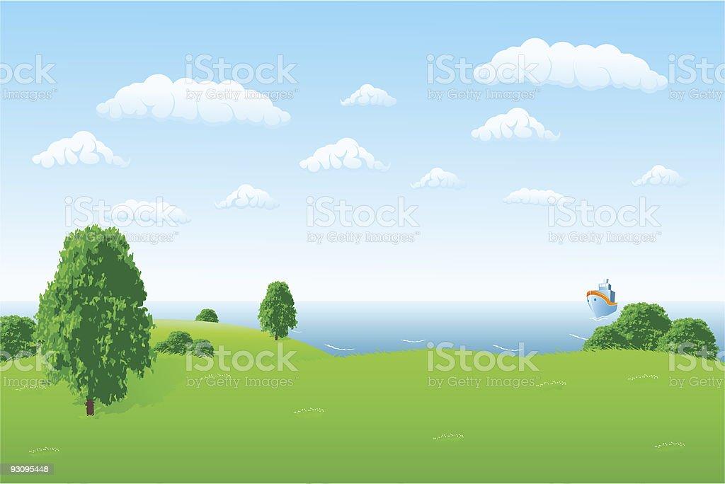 Sea horizon royalty-free sea horizon stock vector art & more images of art