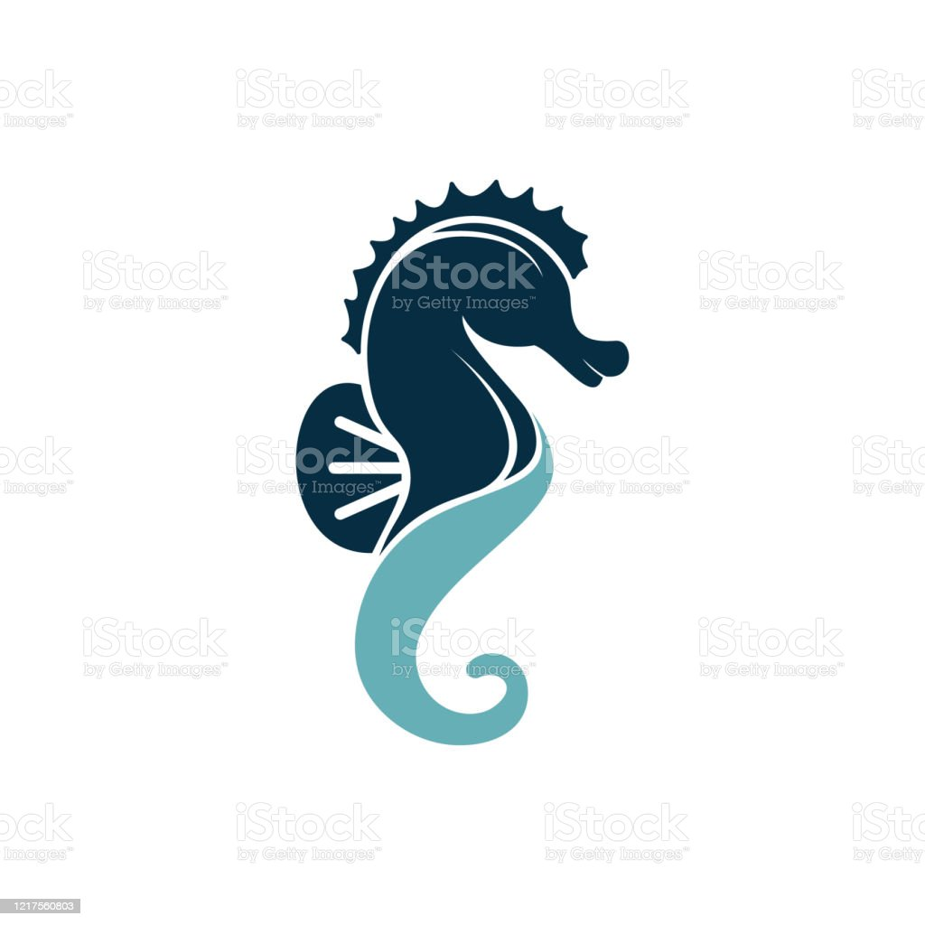 Sea Horse Vector Logo Design Stock Illustration Download Image Now Istock
