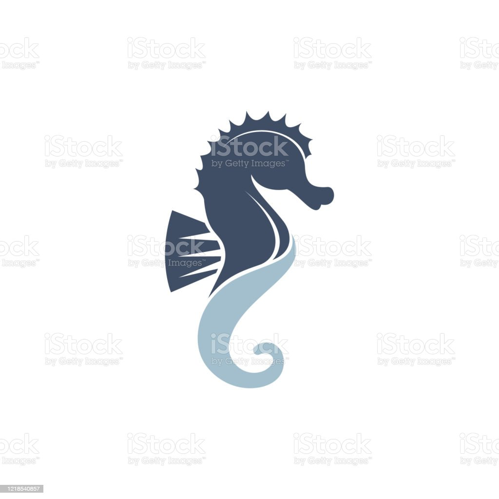 Sea Horse Vector Logo Design Stock Illustration Download Image Now Istock