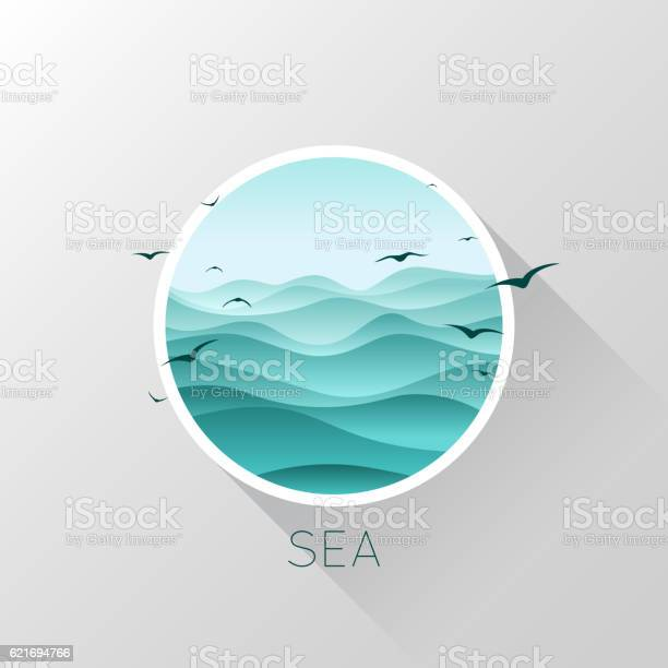 Sea icon waves and seagulls vector illustration vector id621694766?b=1&k=6&m=621694766&s=612x612&h=oatek9pudk0gy0ka8c4bizbj tl3h6aa nclzknvkpe=