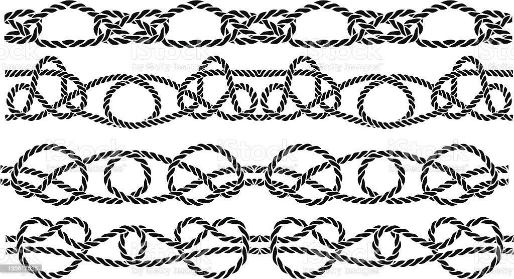Sea knotbpattern royalty-free stock vector art