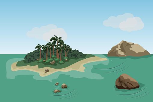 Sea landscape scene background