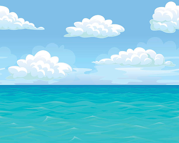 Bекторная иллюстрация Sea landscape seamless horizontal