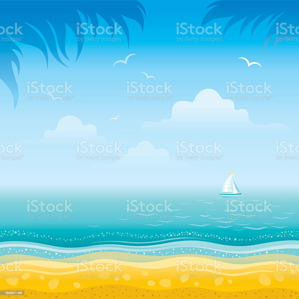 Sea landscape royalty-free sea landscape stock vector art & more images of backgrounds