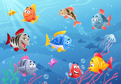 Sea Life- Happy Fish