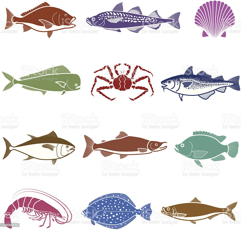 sea life icon set royalty-free sea life icon set stock vector art & more images of alaskan king crab