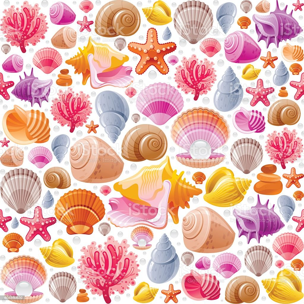 Sea travel icon set with underwater diving animals - seashell,...