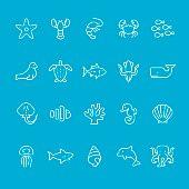 Sea Life theme icons