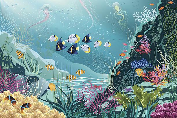 海の生物 - 水族館点のイラスト素材/クリップアート素材/マンガ素材/アイコン素材