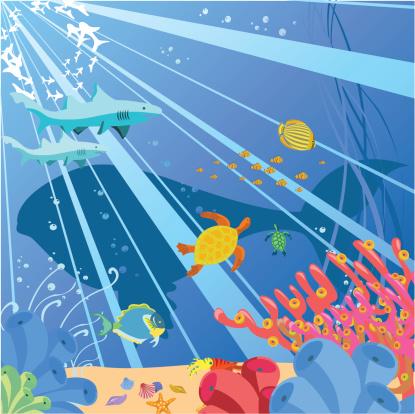 Sea Life Stock Vektor Art und mehr Bilder von Bildhintergrund