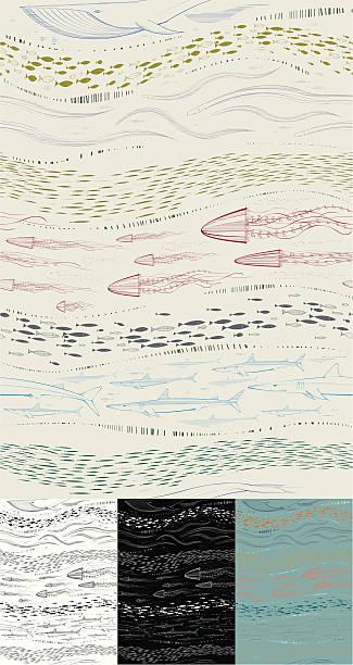 Sea Life papier peint - Illustration vectorielle