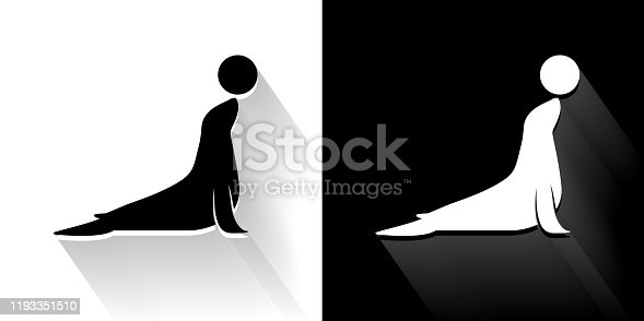 Sea Lion Black and White Icon with Long Shadow. This 100% royalty free vector illustration is featuring the square button and the main icon is depicted in black and in white with a black icon on it. It also has a long shadow to give the icons more depth.