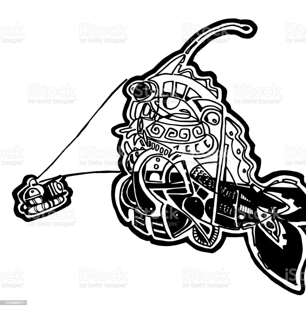 Sea Monster Coloring Page Clip Art Stock Vector Art More Images Of
