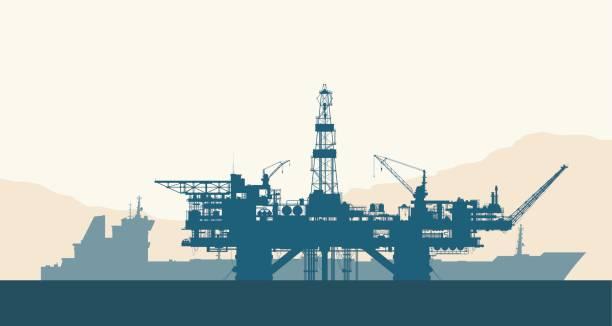 rig art drilling rig clip art vector images illustrations istock