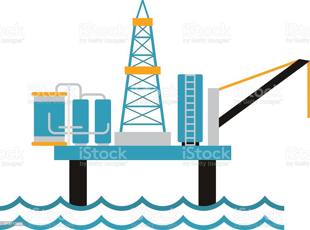 royalty free water well drilling clip art vector images rh istockphoto com offshore rig clipart oil drilling rig clipart