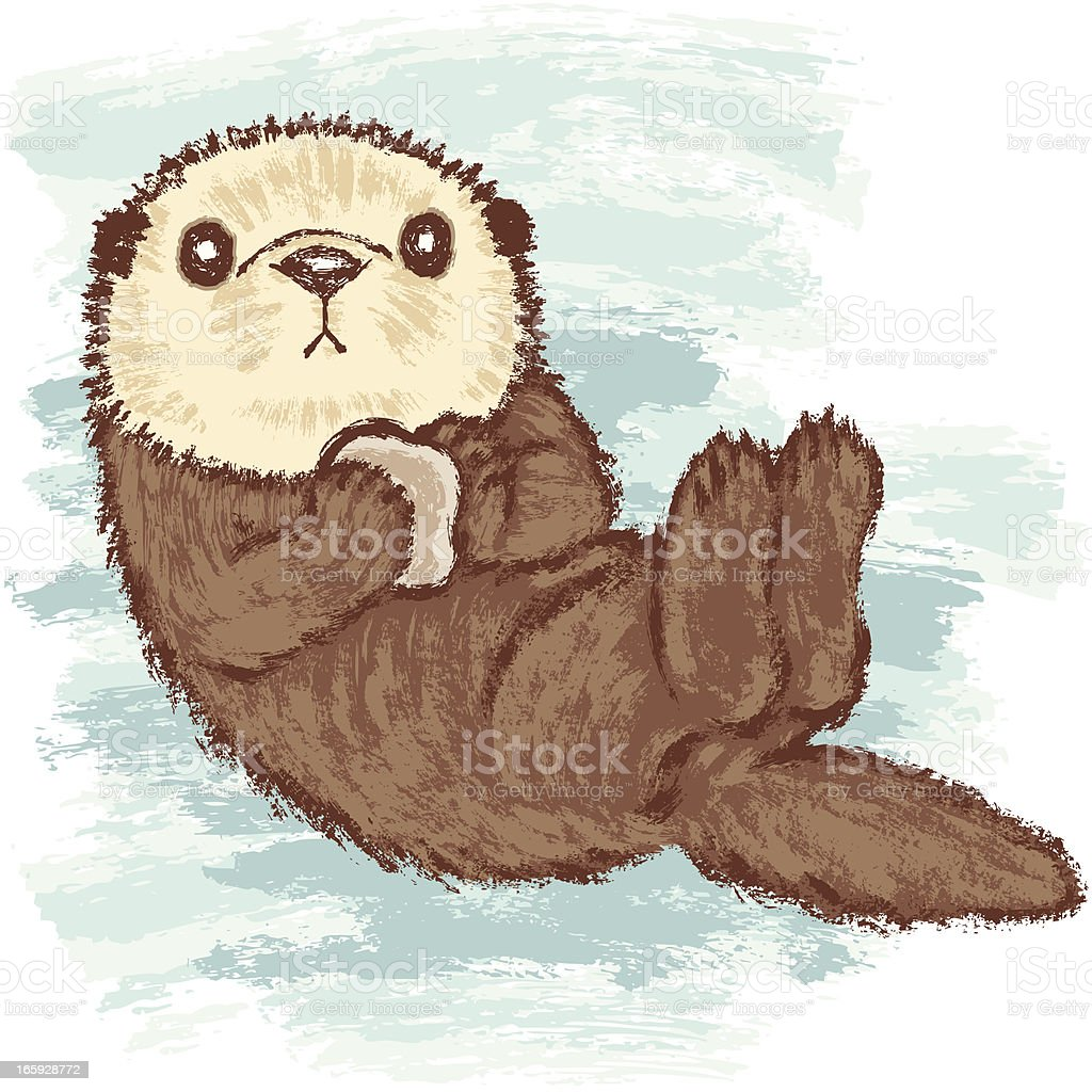 royalty free otter clip art vector images illustrations istock rh istockphoto com cute otter clipart otter clipart