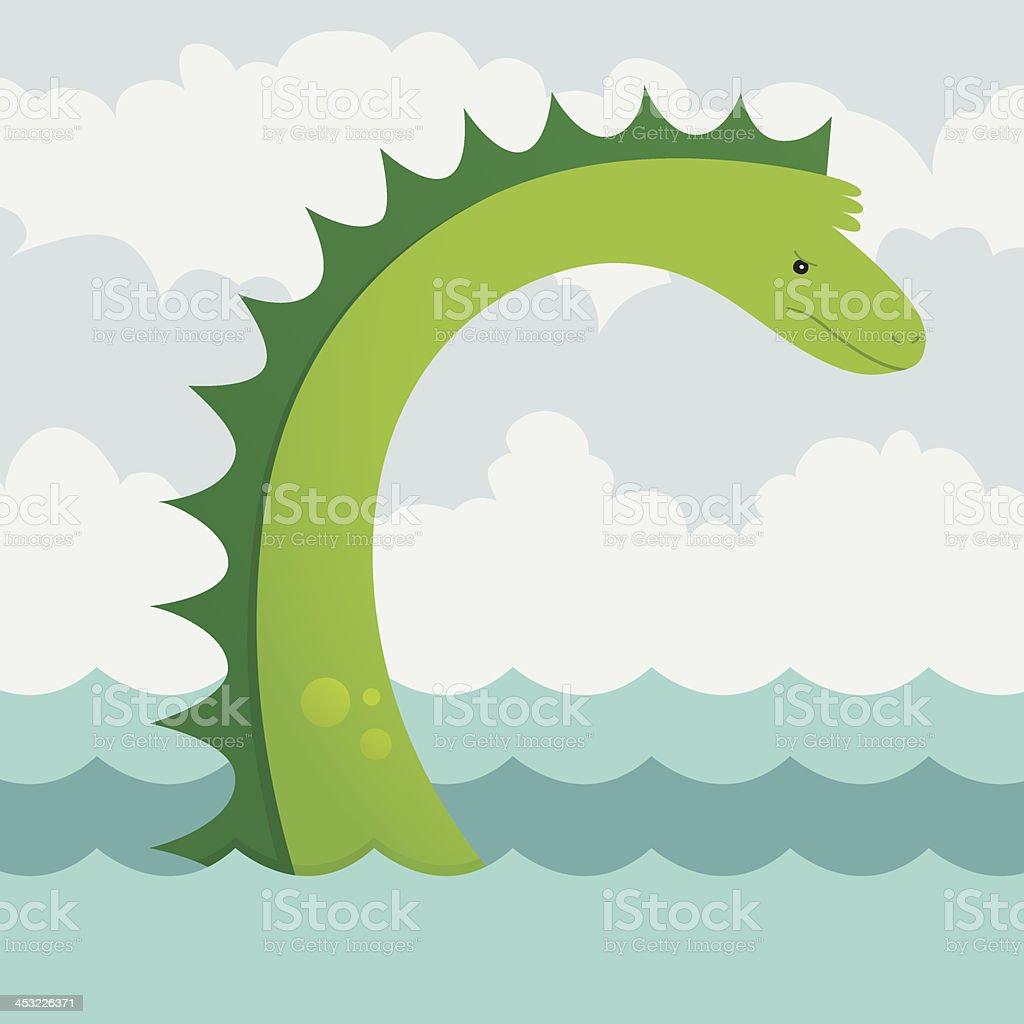 Sea Serpent royalty-free stock vector art
