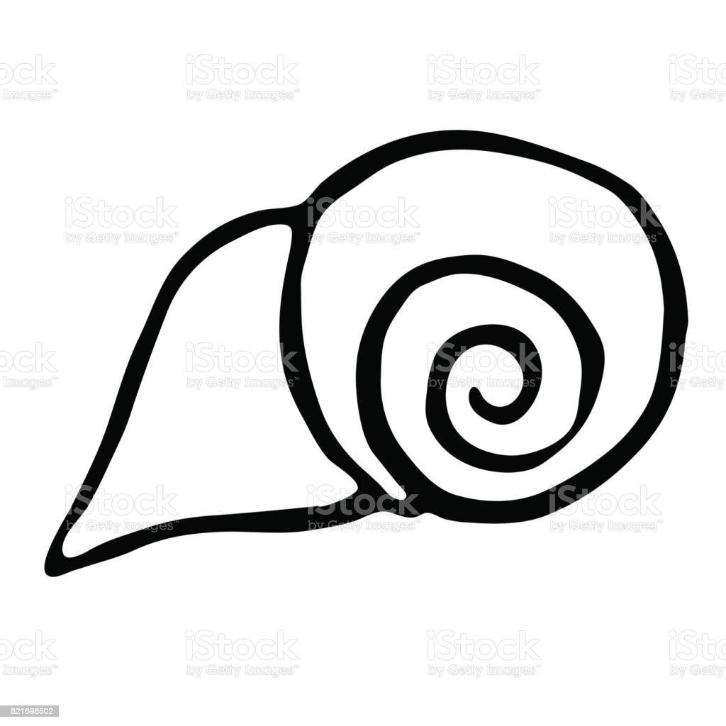 Deniz Kabuğu Vektör çizim El Ile çizim Stok Vektör Sanatı Hiç