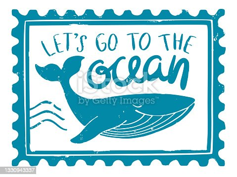 istock Sea stamp 1330943337