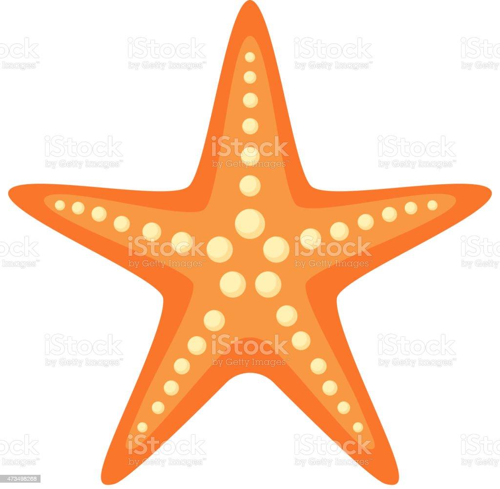 Sea star. vector art illustration