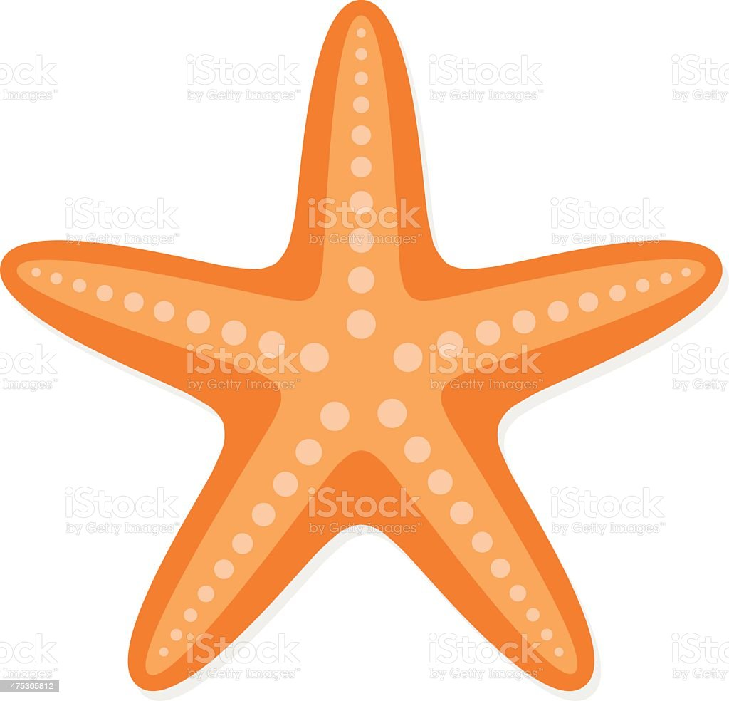 sea star vector illustration stock vector art   more free starfish clip art pics Starfish Templates Free