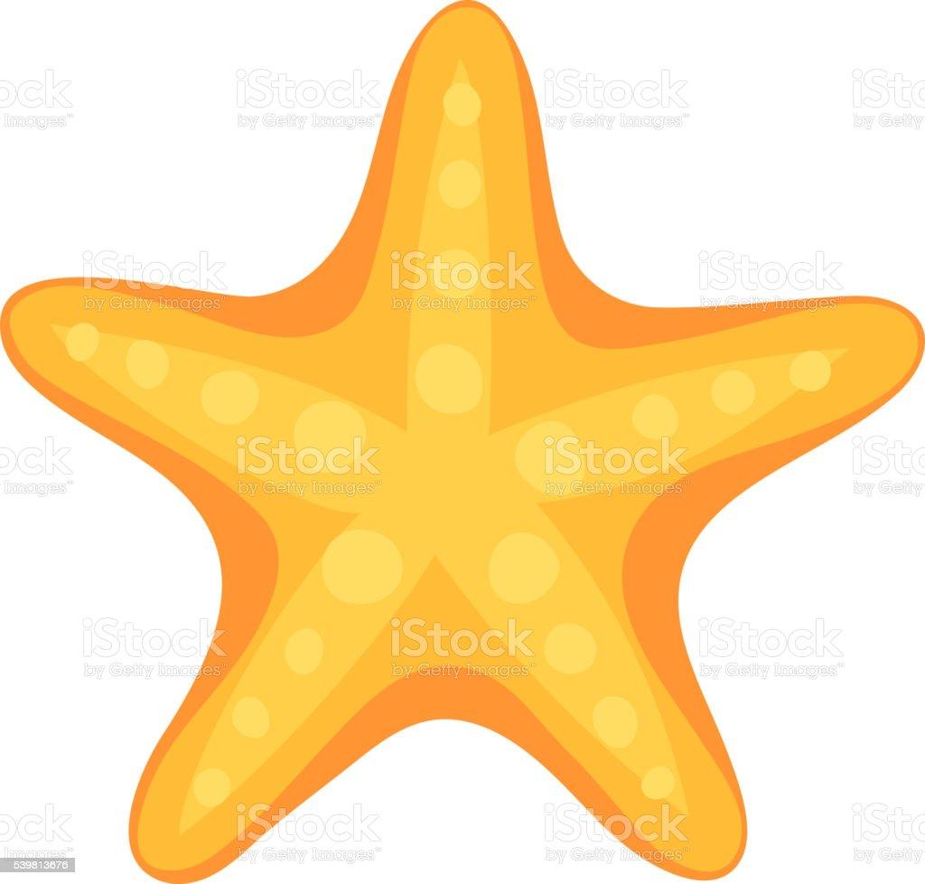 sea star vector illustration stock vector art more images of rh istockphoto com Beach Clip Art Cartoon Starfish