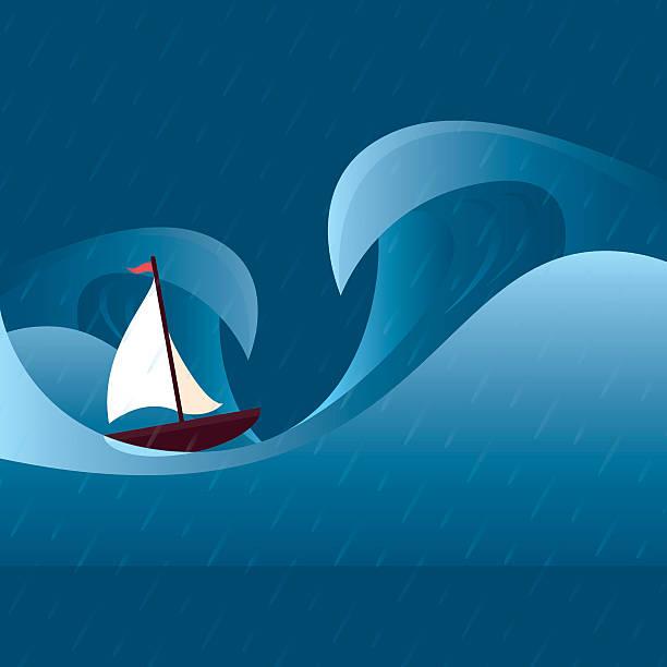 ilustraciones, imágenes clip art, dibujos animados e iconos de stock de tormenta al mar - storm
