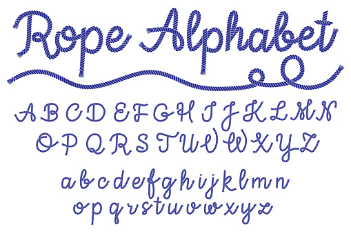 Sea style rope-characters font