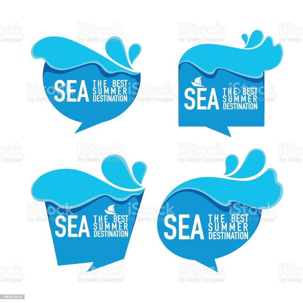 Mar el mejor verano destino, burbujas de agua, etiquetas engomadas, etiquetas, emblemas ilustración de mar el mejor verano destino burbujas de agua etiquetas engomadas etiquetas emblemas y más banco de imágenes de agua libre de derechos