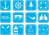 Sea theme icon set
