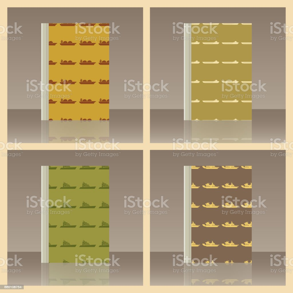 Sea transport and Book. Realistic image of the object vector art illustration