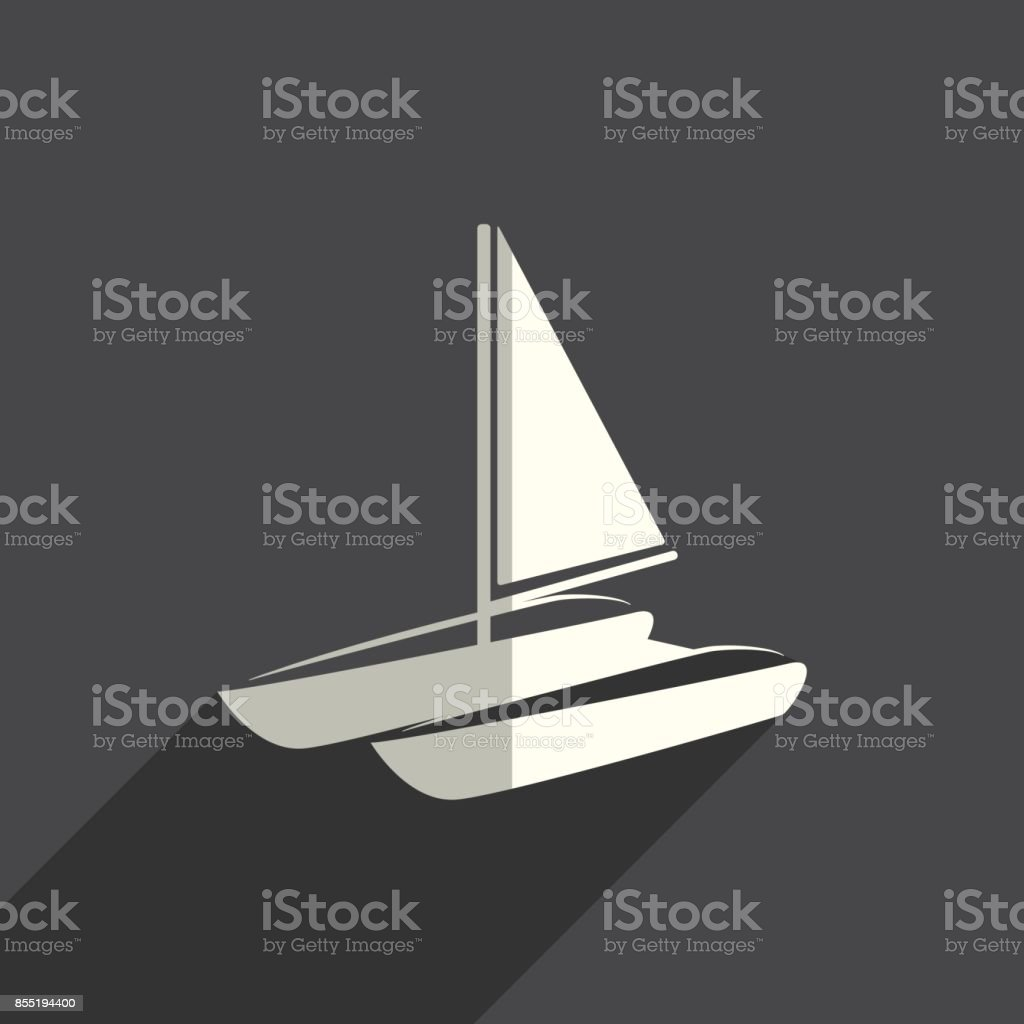 Sea transport flat icons with of shadow. Vector illustration vector art illustration