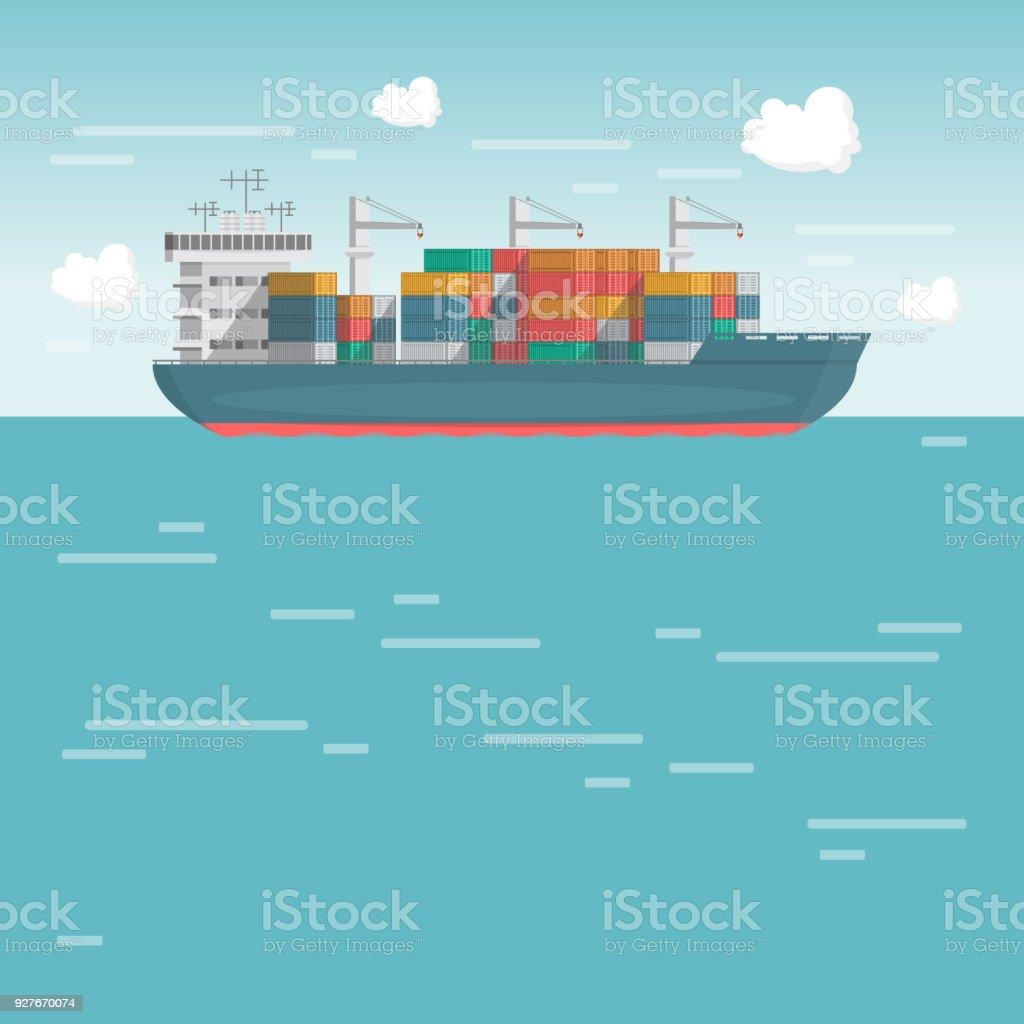 Sea Transportation Logistic Sea Freight Cargo Ship Container