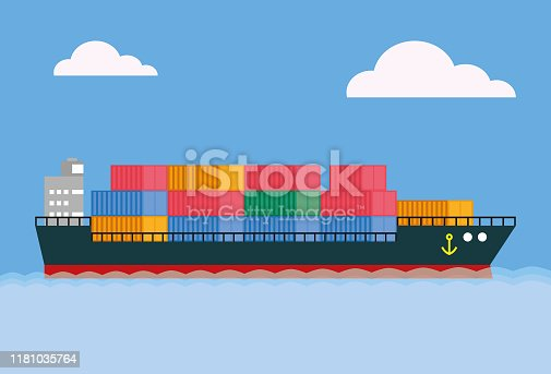Seascape, Container Ship, Advertisement, Business, Cargo Container