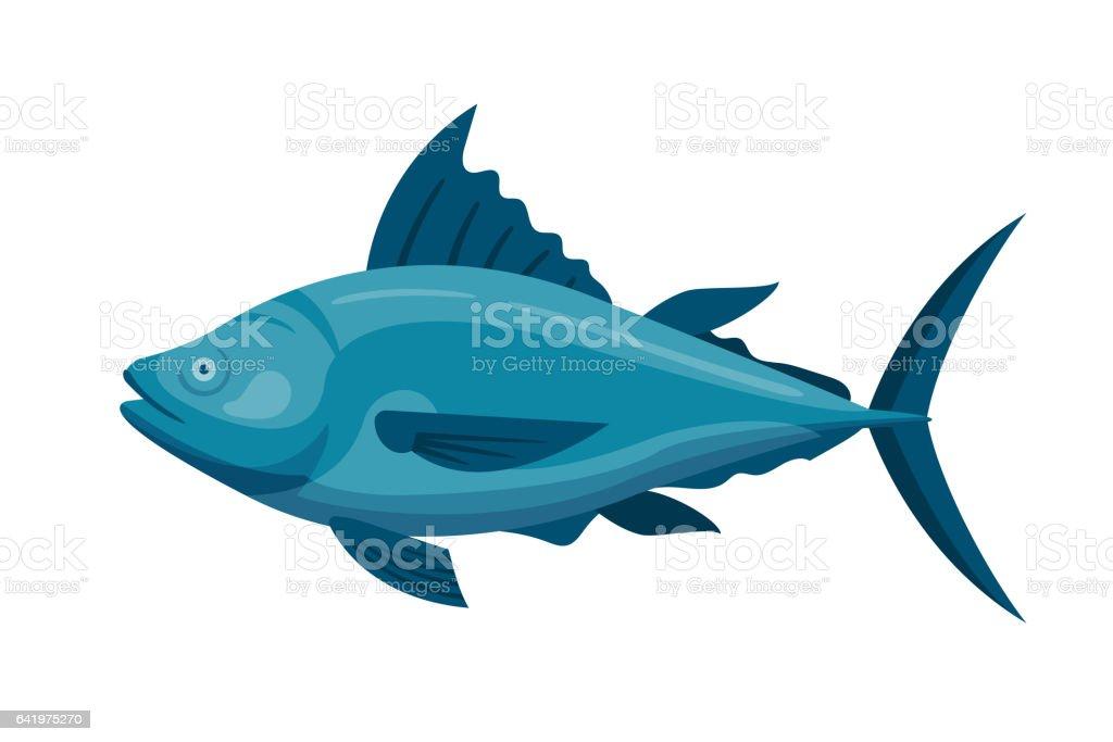 Sea tuna fish vector illustration vector art illustration