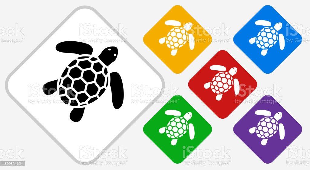 Ilustración de Tortuga Color Diamante Vector Icono y más banco de ...