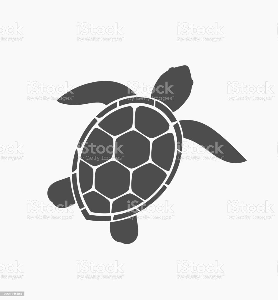Sea Turtle Icon Stock Vector Art & More Images of Animal 858225454 ...