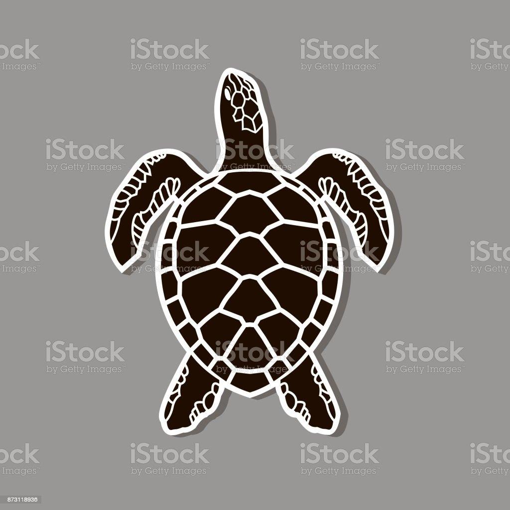 sea turtle icon vector art illustration