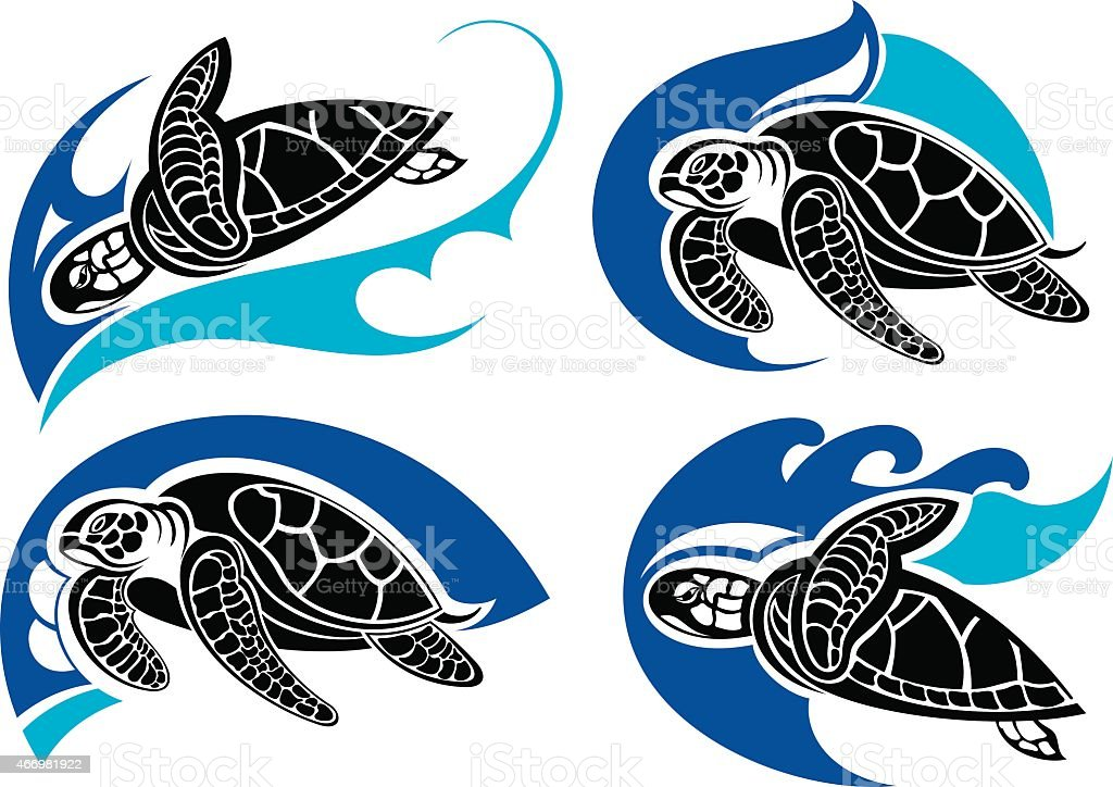 royalty free sea turtle clip art vector images illustrations istock rh istockphoto com Sea Turtle Illustration Sea Turtle Illustration
