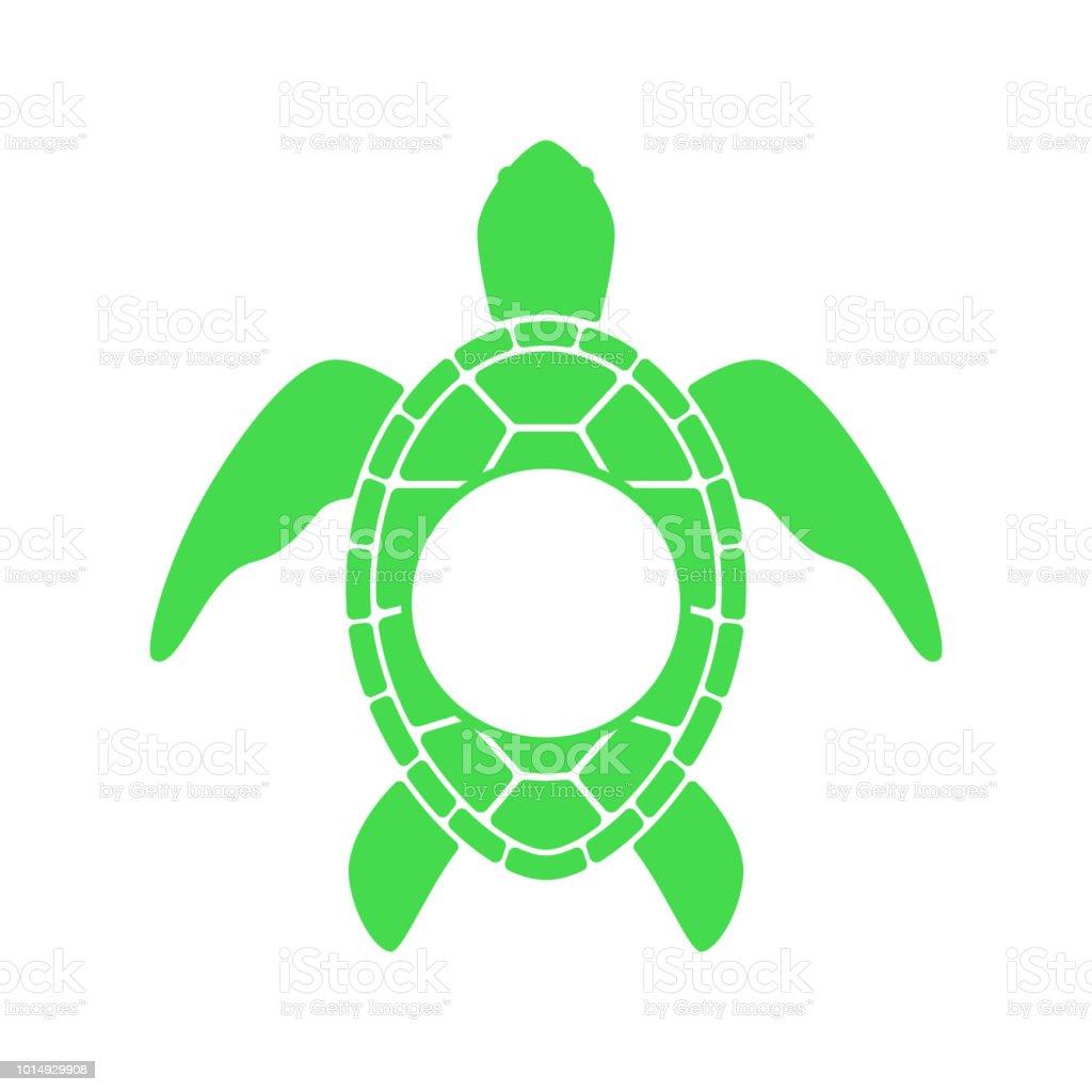 Ilustración De Tortuga De Mar Silueta De Tortuga Monograma Del
