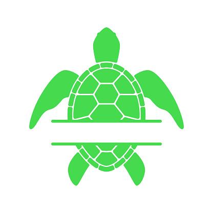 Download Sea Turtle Turtle Silhouette Split Monogram Vector Icon ...