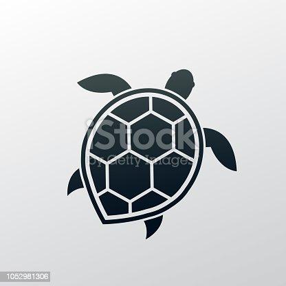 sea turtle. eps 10 vector file