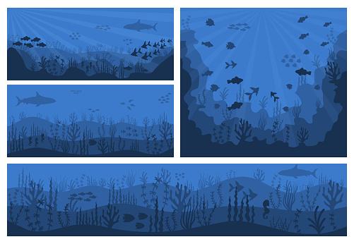 Sea underwater background.