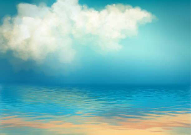 sea vector background - jezioro stock illustrations