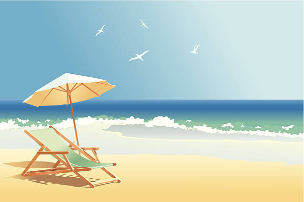 바다빛 - beach stock illustrations