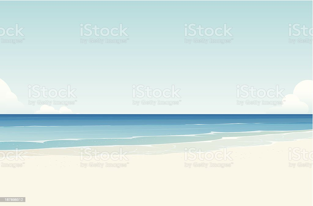 sea vector art illustration