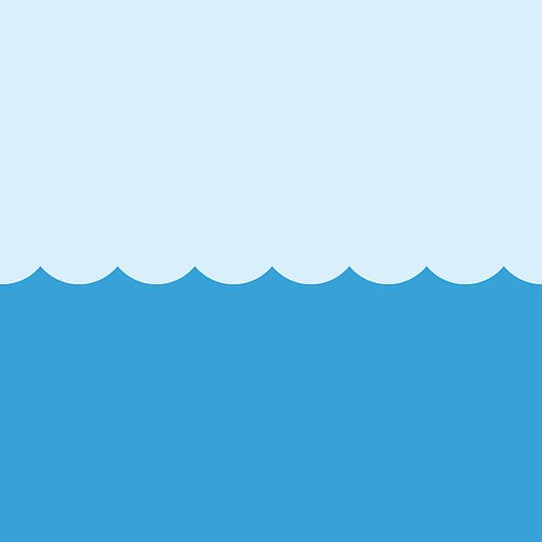 illustrazioni stock, clip art, cartoni animati e icone di tendenza di mare di illustrazione vettoriale moderno design piatto minimalista modello. simbolo dell'oceano - nuoto mare