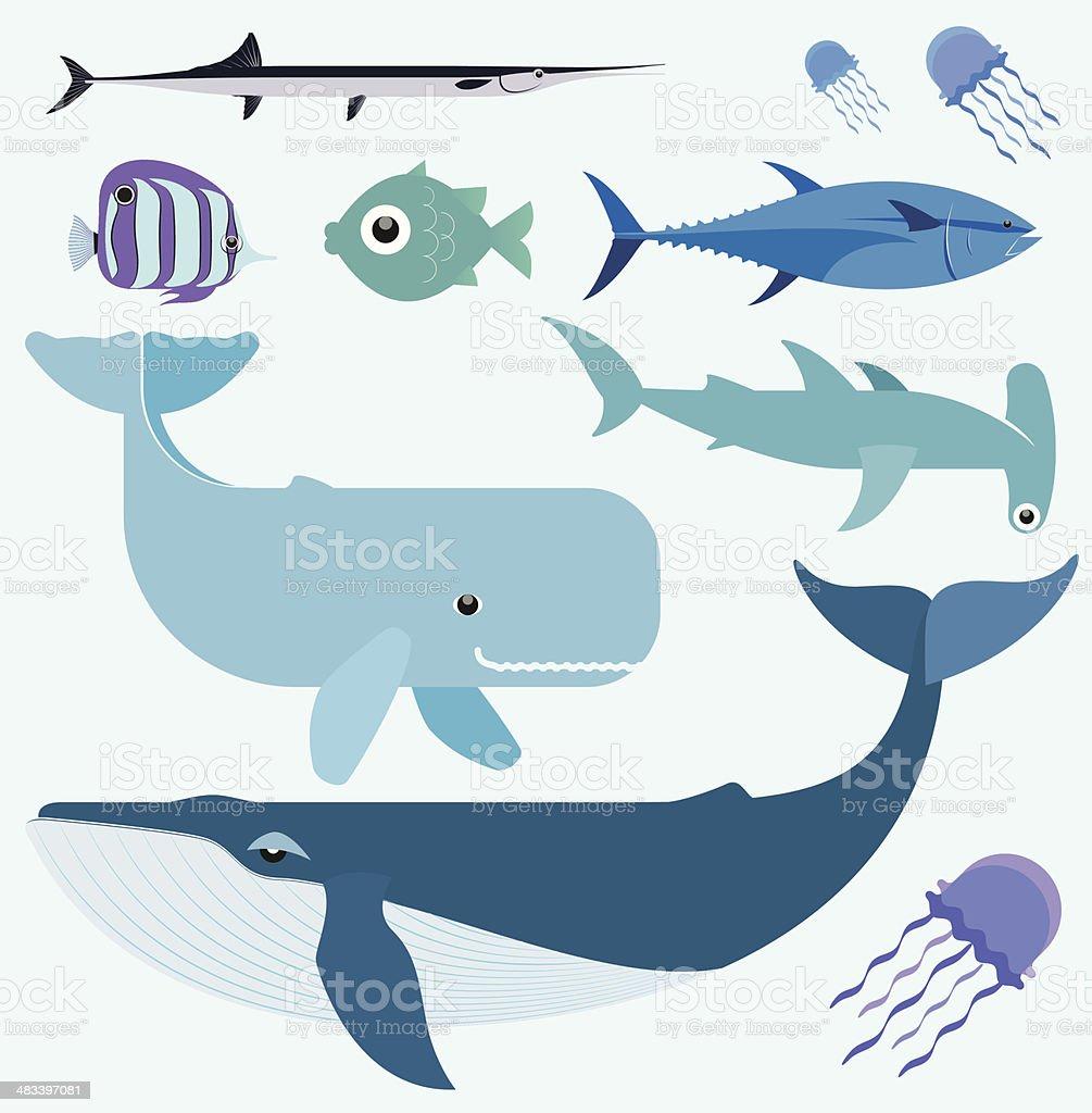 Vecteur série de mer - Illustration vectorielle