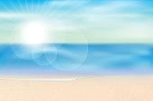 sea view summer season background,vector