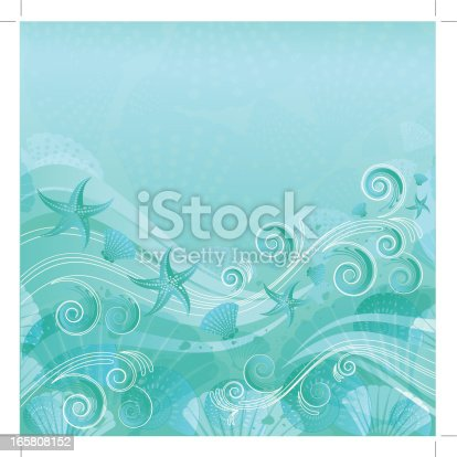 istock Sea Water Floral Background 165808152